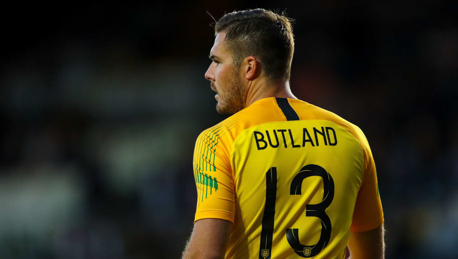 LEEDS, ENGLAND - JUNE 07: Jack Butland of England during the International Friendly match between England and Costa Rica at Elland Road on June 7, 2018 in Leeds, England. (Photo by Robbie Jay Barratt - AMA/Getty Images)