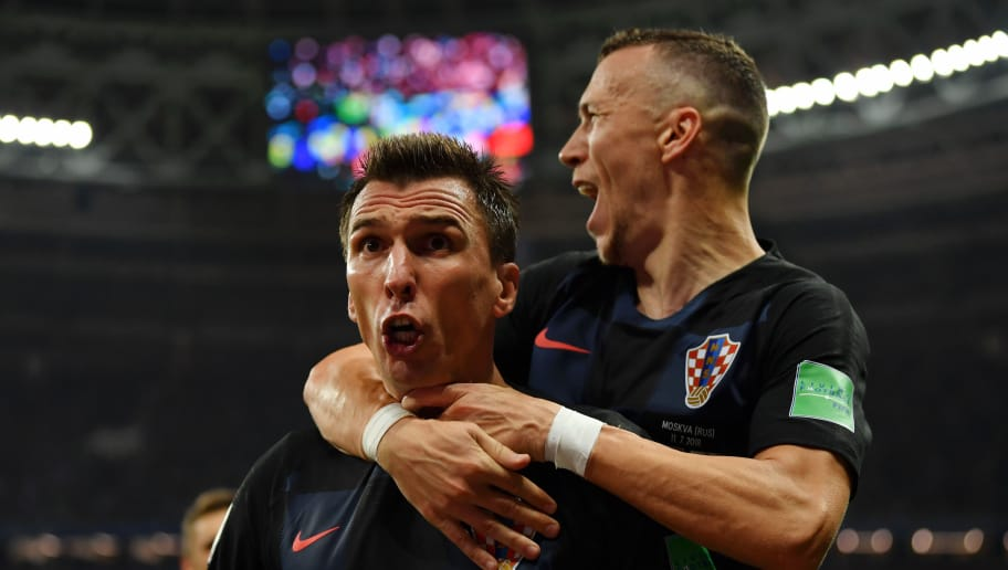 MOSCOW, RUSSIA - JULY 11:  Mario Mandzukic of Croatia celebrates after scoring his team's second goal during the 2018 FIFA World Cup Russia Semi Final match between England and Croatia at Luzhniki Stadium on July 11, 2018 in Moscow, Russia.  (Photo by Dan Mullan/Getty Images)