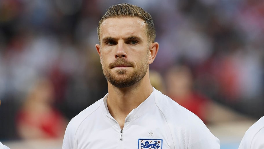 MOSCOW, RUSSIA - JULY 11: Jordan Henderson of England poses prior the 2018 FIFA World Cup Russia Semi Final match between England and Croatia at Luzhniki Stadium on July 11, 2018 in Moscow, Russia. (Photo by Alexey Ivanov/Epsilon/Getty Images)
