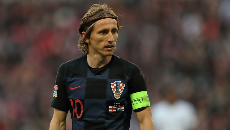 LONDON, ENGLAND - NOVEMBER 18: Luka Modric of Croatia during the UEFA Nations League A group four match between England and Croatia at Wembley Stadium on November 18, 2018 in London, United Kingdom. (Photo by James Williamson - AMA/Getty Images)