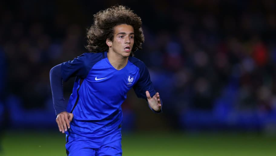 PETERBOROUGH, ENGLAND - NOVEMBER 14: Matteo Guendouzi of France U18 during the U18 International Friendly match between England and France at London Road Stadium on November 14, 2016 in Peterborough, England. (Photo by Catherine Ivill - AMA/Getty Images)