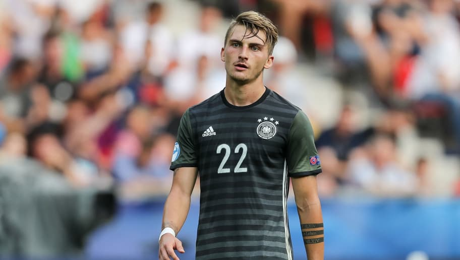 TYCHY, POLAND - JUNE 27: Maximilian Philipp of Germany looks on during the UEFA European Under-21 Championship Semi Final match between England and Germany at Tychy Stadium on June 27, 2017 in Tychy, Poland. (Photo by TF-Images/Getty Images)
