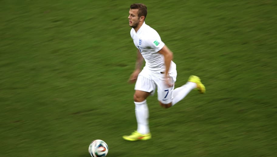 MANAUS, BRAZIL - JUNE 14:  Jack Wilshere of England in action during the 2014 FIFA World Cup Brazil Group D match between England and Italy at Arena Amazonia on June 14, 2014 in Manaus, Brazil.  (Photo by Warren Little/Getty Images)