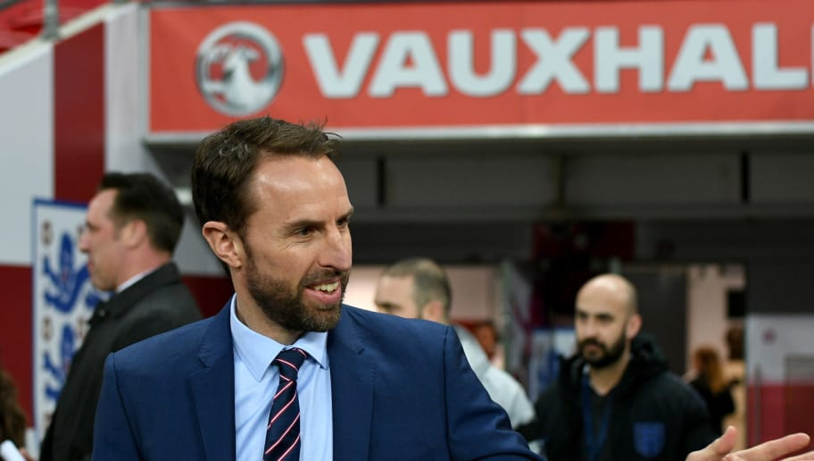 LONDON, ENGLAND - MARCH 27:  Head coach England Gareth Southgate looks on prior to the international friendly match between England and Italy at Wembley Stadium on March 27, 2018 in London, England.  (Photo by Claudio Villa/Getty Images)