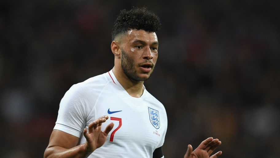 LONDON, ENGLAND - MARCH 27:  Alex Oxlade-Chamberlain of England reacts during the International Friendly match between England and Italy at Wembley Stadium on March 27, 2018 in London, England.  (Photo by Claudio Villa/Getty Images)