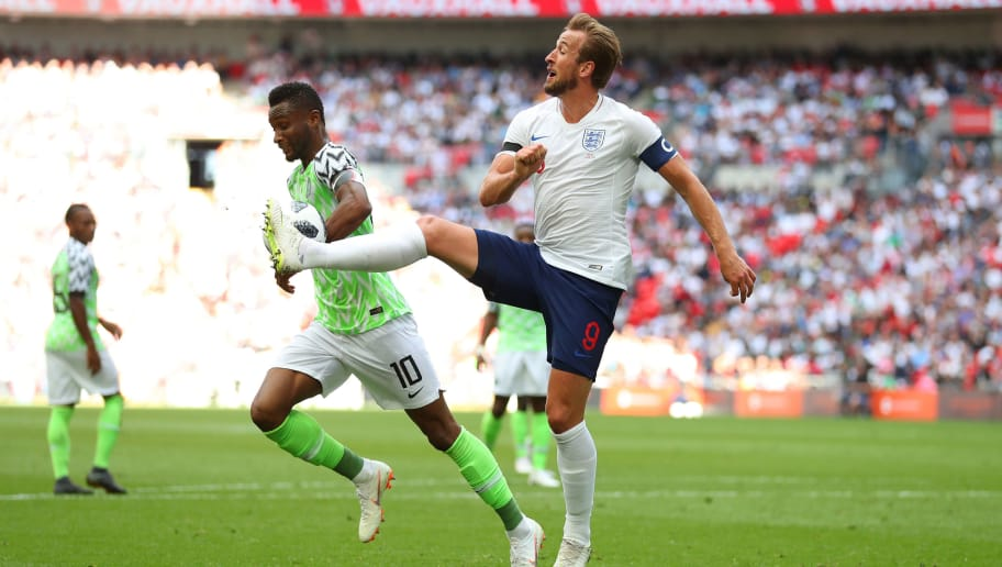 LONDON, ENGLAND - JUNE 02: Harry Kane of England in action during the International Friendly match between England and Nigeria at Wembley Stadium on June 2, 2018 in London, England. (Photo by Catherine Ivill/Getty Images)
