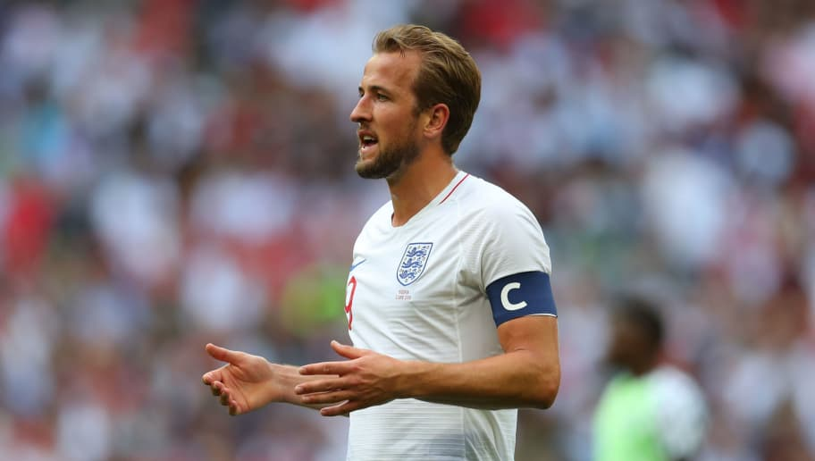 LONDON, ENGLAND - JUNE 02: Captain Harry Kane of England during the International Friendly match between England and Nigeria at Wembley Stadium on June 2, 2018 in London, England. (Photo by Catherine Ivill/Getty Images)