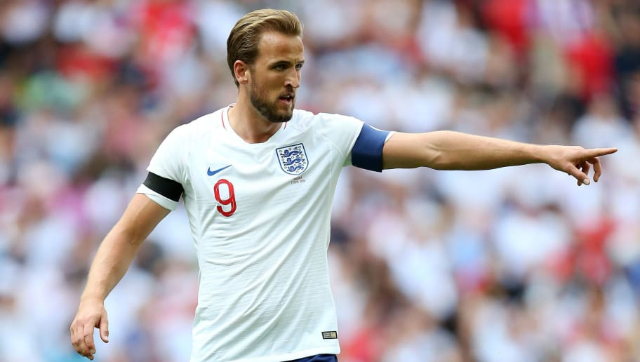LONDON, ENGLAND - JUNE 02: Harry Kane of England  during the International Friendly between England and Nigeria at Wembley Stadium on June 2, 2018 in London, England. (Photo by James Baylis - AMA/Getty Images)