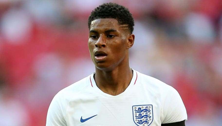LONDON, ENGLAND - JUNE 02: Marcus Rashford of England during the International Friendly between England and Nigeria at Wembley Stadium on June 2, 2018 in London, England. (Photo by James Baylis - AMA/Getty Images)
