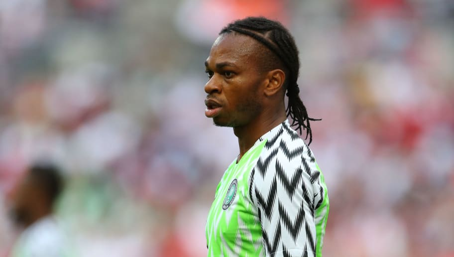 LONDON, ENGLAND - JUNE 02: Joel Obi of Nigeria during the International Friendly match between England and Nigeria at Wembley Stadium on June 2, 2018 in London, England. (Photo by Catherine Ivill/Getty Images)