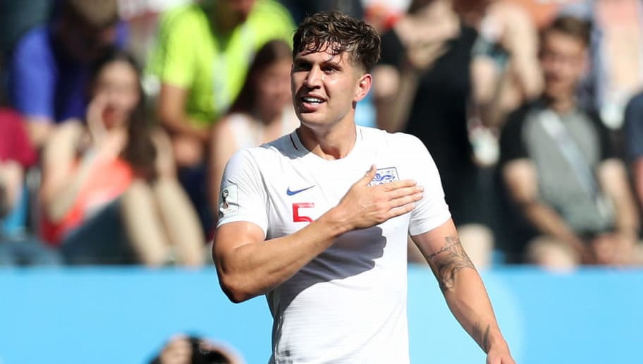 NIZHNY NOVGOROD, RUSSIA - JUNE 24:  John Stones of England celebrates after scoring his team's fourth goal during the 2018 FIFA World Cup Russia group G match between England and Panama at Nizhny Novgorod Stadium on June 24, 2018 in Nizhny Novgorod, Russia.  (Photo by Alex Morton/Getty Images)