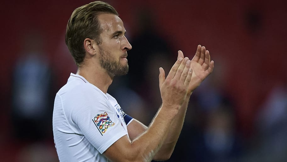 LONDON, ENGLAND - SEPTEMBER 08:  Harry Kane of England at the end of the UEFA Nations League A group four match between England and Spain at Wembley Stadium on September 8, 2018 in London, United Kingdom.  (Photo by Quality Sport Images/Getty Images)