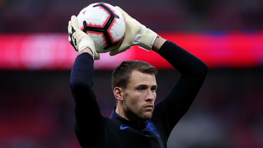 LONDON, ENGLAND - SEPTEMBER 08: Marcus Bettinelli of England before the UEFA Nations League A group four match between England and Spain at Wembley Stadium on September 8, 2018 in London, United Kingdom. (Photo by James Baylis - AMA/Getty Images)