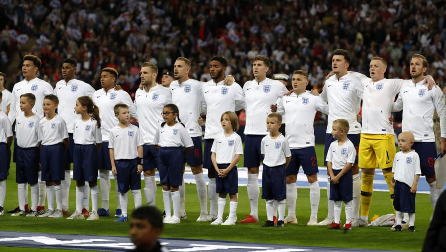 LONDON, ENGLAND - SEPTEMBER 08: Players of England are seen during the UEFA Nations League A group four match between England and Spain at Wembley Stadium on September 8, 2018 in London, United Kingdom. (Photo by TF-Images/Getty Images)