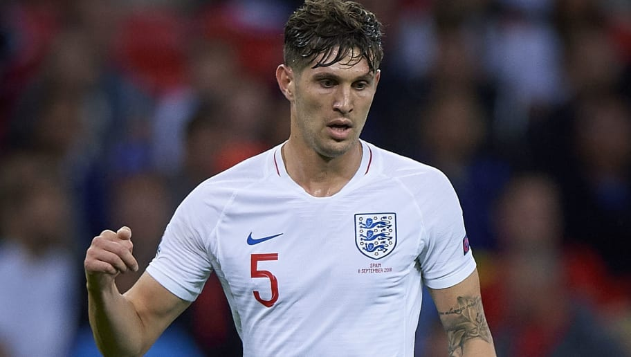 LONDON, ENGLAND - SEPTEMBER 08:  John Stones of England in action during the UEFA Nations League A group four match between England and Spain at Wembley Stadium on September 8, 2018 in London, United Kingdom.  (Photo by Quality Sport Images/Getty Images)