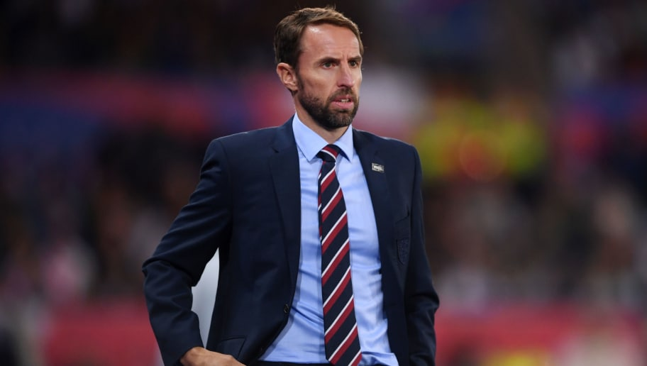 LEICESTER, ENGLAND - SEPTEMBER 11:  Gareth Southgate, Manager of England looks on during the international friendly match between England and Switzerland at The King Power Stadium on September 11, 2018 in Leicester, United Kingdom.  (Photo by Laurence Griffiths/Getty Images)