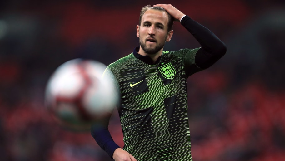LONDON, ENGLAND - NOVEMBER 15: Harry Kane of England during the International Friendly match between England and United States at Wembley Stadium on November 15, 2018 in London, United Kingdom. (Photo by Marc Atkins/Getty Images)