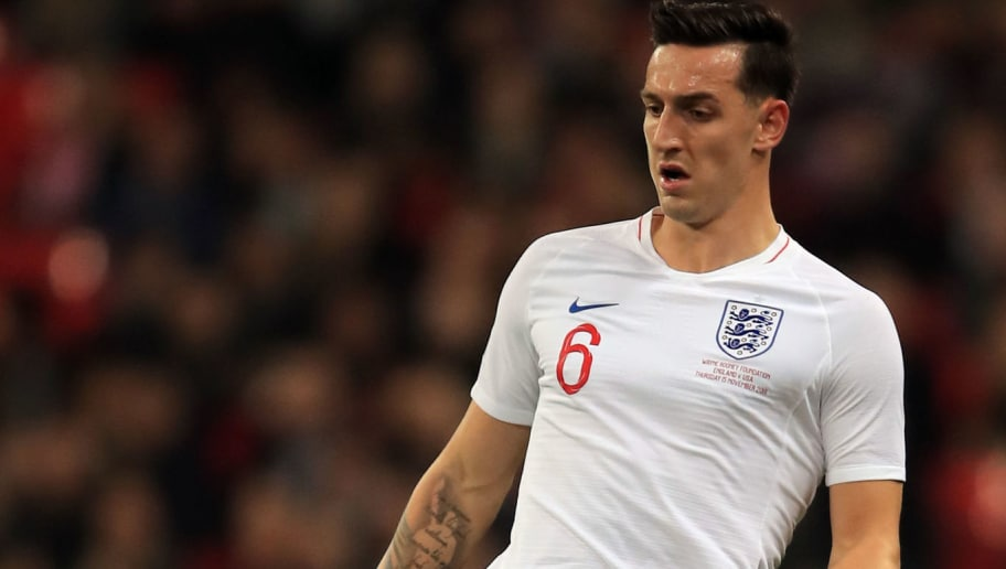 LONDON, ENGLAND - NOVEMBER 15: Lewis Dunk of England during the International Friendly match between England and United States at Wembley Stadium on November 15, 2018 in London, United Kingdom. (Photo by Marc Atkins/Getty Images)