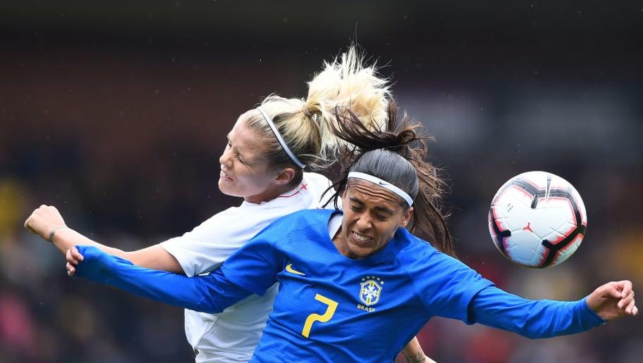 Resultado de imagen de england brazil women football