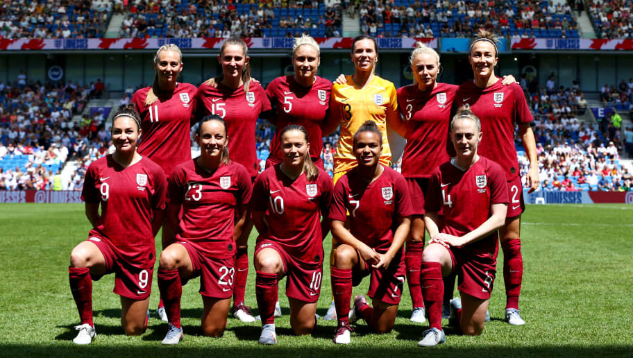 Carly Telford,Lucy Bronze,Alex Greenwood,Keira Walsh,Steph Houghton,Nikita Parris,Jodie Taylor,Fran Kirby,Toni Duggan,Abbi McManus,Lucy Staniforth
