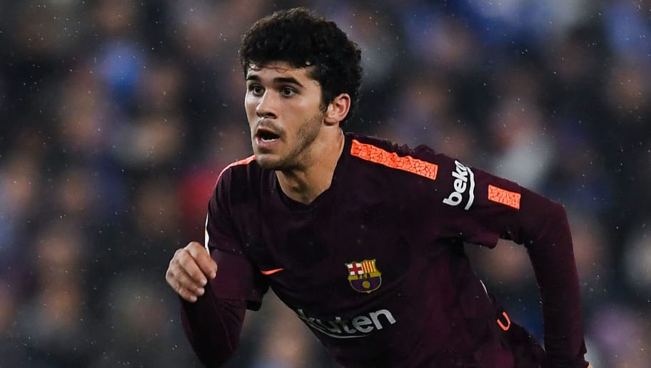 BARCELONA, SPAIN - JANUARY 17: Carles Alena of FC Barcelona in action during the Copa del Rey Quarter Final Firs Leg match between Espanyol and FC Barcelona at Nuevo Estadio de Cornella-El Prat on January 17, 2018 in Barcelona, Spain.  (Photo by David Ramos/Getty Images)