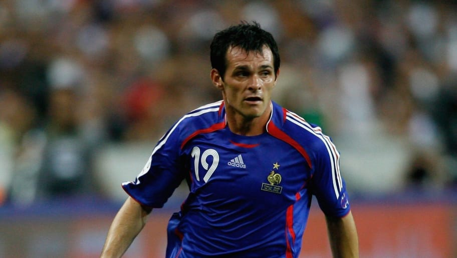89be880c650 PARIS - SEPTEMBER 06  Willly Sagnol of France in action during the Euro2008  Qualifing match