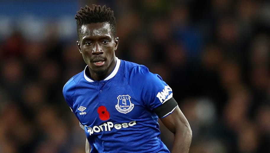 LIVERPOOL, ENGLAND - NOVEMBER 03:  Idrissa Gana Gueye of Everton in action during the Premier League match between Everton FC and Brighton & Hove Albion at Goodison Park on November 3, 2018 in Liverpool, United Kingdom.  (Photo by Clive Brunskill/Getty Images)
