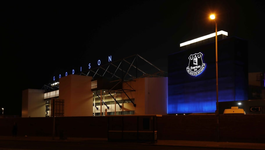 LIVERPOOL, ENGLAND - NOVEMBER 24: A general view of Goodison Park at night following the Premier League match between Everton FC and Cardiff City at Goodison Park on November 24, 2018 in Liverpool, United Kingdom. (Photo by Malcolm Couzens/Getty Images)