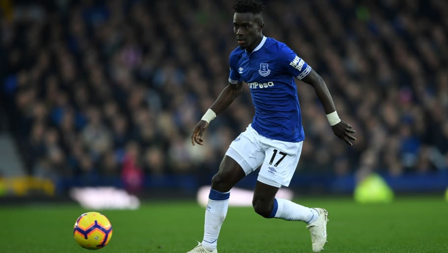 LIVERPOOL, ENGLAND - NOVEMBER 24: Idrissa Gueye of Everton during the Premier League match between Everton FC and Cardiff City at Goodison Park on November 24, 2018 in Liverpool, United Kingdom. (Photo by Gareth Copley/Getty Images)