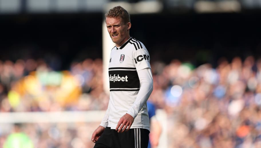 LIVERPOOL, ENGLAND - SEPTEMBER 29: Andre Schurrle of Fulham during the Premier League match between Everton FC and Fulham FC at Goodison Park on September 29, 2018 in Liverpool, United Kingdom. (Photo by James Williamson - AMA/Getty Images)