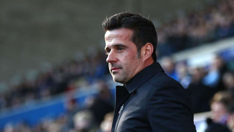 LIVERPOOL, ENGLAND - JANUARY 01:  Marco Silva, Manager of Everton looks on during the Premier League match between Everton FC and Leicester City at Goodison Park on January 1, 2019 in Liverpool, United Kingdom.  (Photo by Clive Brunskill/Getty Images)