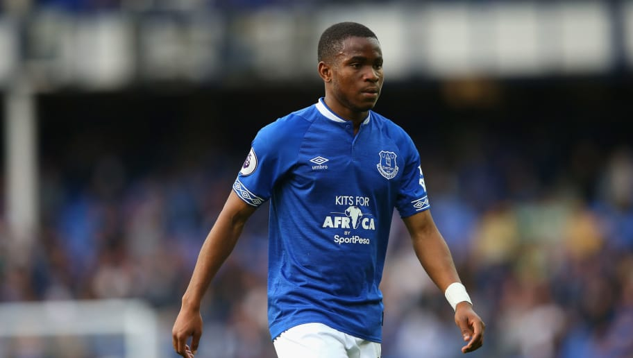 LIVERPOOL, ENGLAND - SEPTEMBER 16:  Ademola Lookman of Everton looks on during the Premier League match between Everton FC and West Ham United at Goodison Park on September 16, 2018 in Liverpool, United Kingdom.  (Photo by Alex Livesey/Getty Images)
