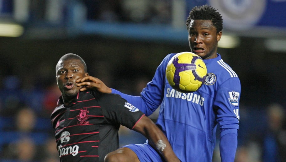 Everton's Nigerian player Yakubu Ayegben