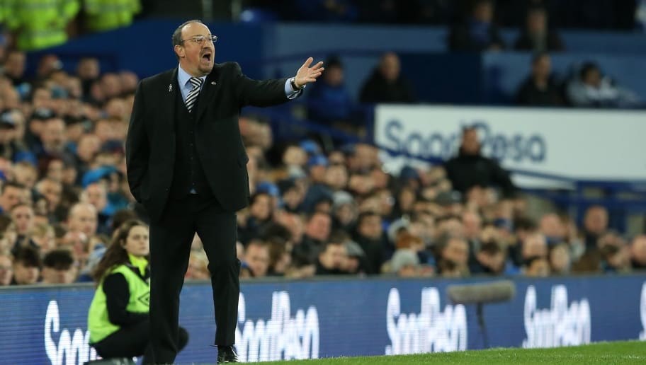 LIVERPOOL, ENGLAND - APRIL 23: Newcastle United manager Rafael Benitez during the Premier League match between Everton and Newcastle United at Goodison Park on April 23, 2018 in Liverpool, England. (Photo by James Williamson - AMA/Getty Images)