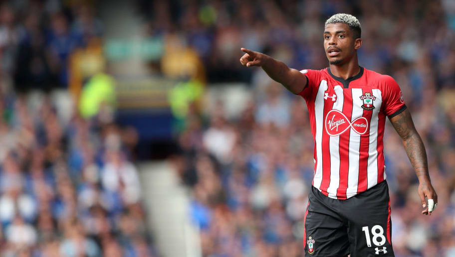LIVERPOOL, ENGLAND - AUGUST 18: Mario Lemina of Southampton during the Premier League match between Everton FC and Southampton FC at Goodison Park on August 18, 2018 in Liverpool, United Kingdom. (Photo by James Williamson - AMA/Getty Images)