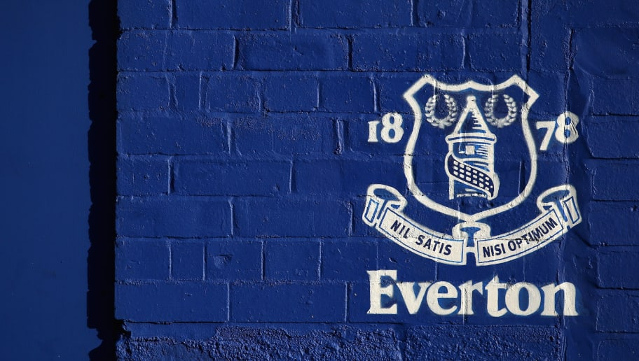 LIVERPOOL, ENGLAND - NOVEMBER 05:  The Everton logo is seen outside the stadium prior to the Premier League match between Everton and Watford at Goodison Park on November 5, 2017 in Liverpool, England.  (Photo by Alex Livesey/Getty Images)