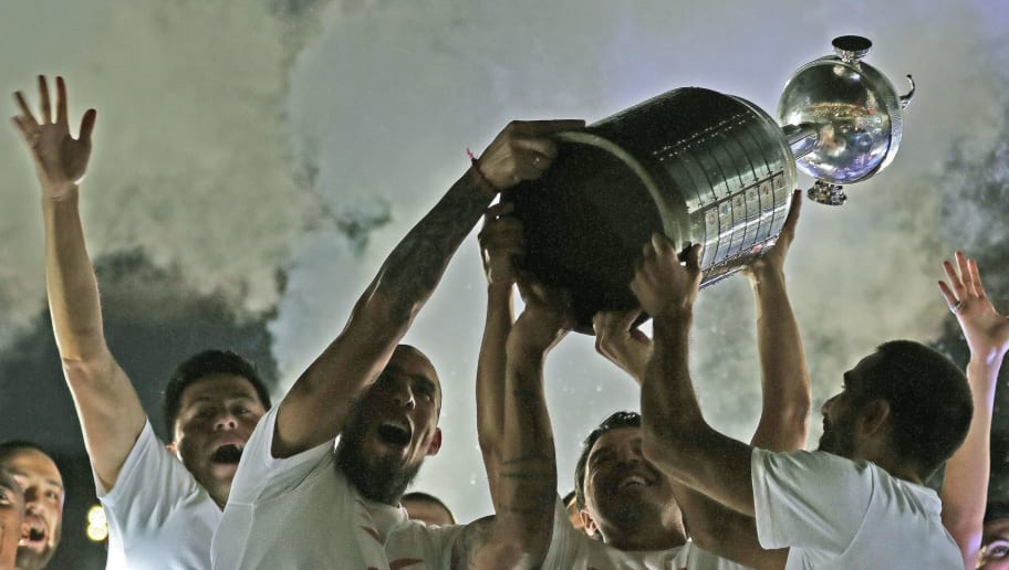 FBL-ARGENTINA-RIVER-LIBERTADORES-CHAMPION-CELEBRATION