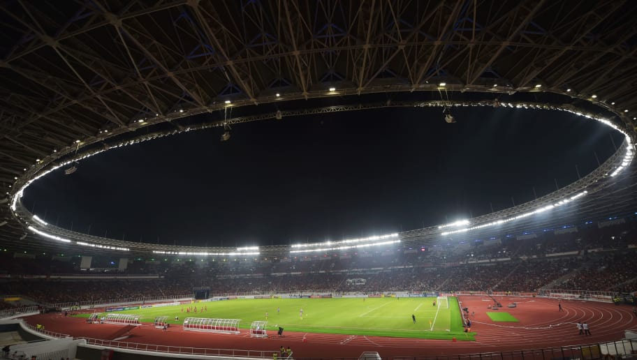 General view from inside the Gelora Bung Karno stadium during the AFC (Asian Football Confederation) cup Group H football match at the Gelora Bung Karno stadium in Jakarta on February 28, 2018. / AFP PHOTO / ADEK BERRY        (Photo credit should read ADEK BERRY/AFP/Getty Images)