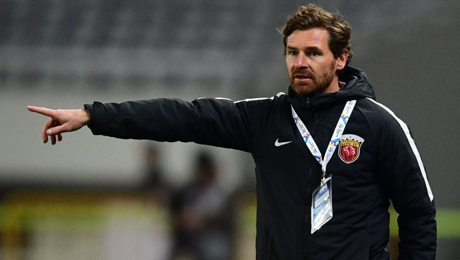 Shanghai SIPG head coach Andre Villas-Boas reacts during the AFC Asian Champions League group football match between  Shanghai SIPG and Urawa Red Diamonds in Shanghai on March 15, 2017. / AFP PHOTO / Johannes EISELE        (Photo credit should read JOHANNES EISELE/AFP/Getty Images)