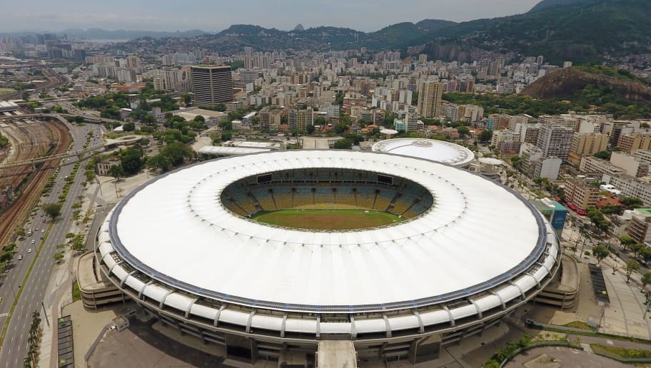 View of the world-famous Maracana Stadium in Rio de Janeiro on January 18, 2017.  After playing a key role in the 2014 World Cup and 2016 Olympic Games, hosted by Brazil, the iconic Maracana Stadium has fallen into a state of abandon due to a contract dispute, and is closed to tourists. / AFP / VANDERLEI ALMEIDA        (Photo credit should read VANDERLEI ALMEIDA/AFP/Getty Images)