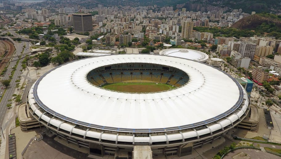 Aerial view of the world-famous Maracana Stadium in Rio de Janeiro on January 18, 2017.  The major refurbishment of Rio's famous Maracana football stadium ahead of the 2014 World Cup was marred by millions of dollars in overbilling, a government watchdog says March 13, 2017. / AFP PHOTO / VANDERLEI ALMEIDA        (Photo credit should read VANDERLEI ALMEIDA/AFP/Getty Images)