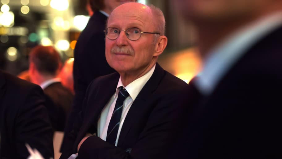 Willi Lemke, Special Advisor to the United Nations Secretary General on Sports for Development and Peace attends the DFB & Mercedes Benz Integration Prize Award Gala at German Football Museum in Dortmund , western Germany on March 14, 2016.  / AFP / PATRIK STOLLARZ        (Photo credit should read PATRIK STOLLARZ/AFP/Getty Images)
