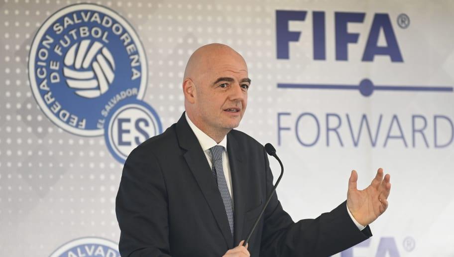 FBL-EL SALVADOR-FIFA-INFANTINO