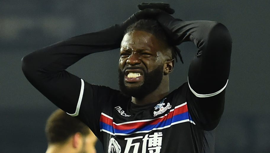 Crystal Palaces French-born Malian midfielder Bakary Sako reacts to a missed chance at goal during the English FA Cup third round football match between Brighton and Hove Albion and Crystal Palace at the American Express Community Stadium in Brighton, southern England on January 8, 2018. / AFP PHOTO / Glyn KIRK / RESTRICTED TO EDITORIAL USE. No use with unauthorized audio, video, data, fixture lists, club/league logos or 'live' services. Online in-match use limited to 75 images, no video emulation. No use in betting, games or single club/league/player publications.  /         (Photo credit should read GLYN KIRK/AFP/Getty Images)