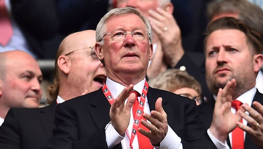Manchester United's former manager Alex Ferguson watches from the crowd ahead of the kick off of the English FA Cup semi-final football match between Tottenham Hotspur and Manchester United at Wembley Stadium in London, on April 21, 2018. (Photo by Glyn KIRK / AFP) / NOT FOR MARKETING OR ADVERTISING USE / RESTRICTED TO EDITORIAL USE        (Photo credit should read GLYN KIRK/AFP/Getty Images)