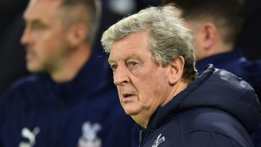 Crystal Palace's English manager Roy Hodgson reacts ahead of  the English Premier League football match between Brighton and Hove Albion and Crystal Palace at the American Express Community Stadium in Brighton, southern England on December 4, 2018. (Photo by Glyn KIRK / AFP) / RESTRICTED TO EDITORIAL USE. No use with unauthorized audio, video, data, fixture lists, club/league logos or 'live' services. Online in-match use limited to 120 images. An additional 40 images may be used in extra time. No video emulation. Social media in-match use limited to 120 images. An additional 40 images may be used in extra time. No use in betting publications, games or single club/league/player publications. /         (Photo credit should read GLYN KIRK/AFP/Getty Images)