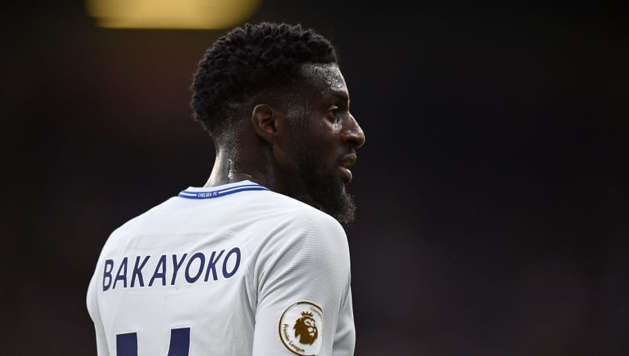 Chelsea's French midfielder Tiemoue Bakayoko looks on during the English Premier League football match between Burnley and Chelsea at Turf Moor in Burnley, north west England on April 19, 2018. (Photo by Oli SCARFF / AFP) / RESTRICTED TO EDITORIAL USE. No use with unauthorized audio, video, data, fixture lists, club/league logos or 'live' services. Online in-match use limited to 75 images, no video emulation. No use in betting, games or single club/league/player publications. /         (Photo credit should read OLI SCARFF/AFP/Getty Images)