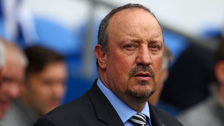 Newcastle United's Spanish manager Rafael Benitez arrives for the English Premier League football match between between Cardiff City and Newcastle United at Cardiff City Stadium in Cardiff, south Wales on August 18, 2018. (Photo by Geoff CADDICK / AFP) / RESTRICTED TO EDITORIAL USE. No use with unauthorized audio, video, data, fixture lists, club/league logos or 'live' services. Online in-match use limited to 120 images. An additional 40 images may be used in extra time. No video emulation. Social media in-match use limited to 120 images. An additional 40 images may be used in extra time. No use in betting publications, games or single club/league/player publications. /         (Photo credit should read GEOFF CADDICK/AFP/Getty Images)
