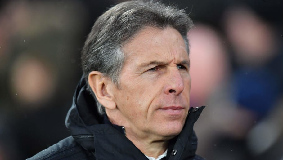 Leicester City's French manager Claude Puel reacts during the English Premier League football match between Crystal Palace and Leicester City at Selhurst Park in south London on December 15, 2018. (Photo by Ben STANSALL / AFP) / RESTRICTED TO EDITORIAL USE. No use with unauthorized audio, video, data, fixture lists, club/league logos or 'live' services. Online in-match use limited to 120 images. An additional 40 images may be used in extra time. No video emulation. Social media in-match use limited to 120 images. An additional 40 images may be used in extra time. No use in betting publications, games or single club/league/player publications. /         (Photo credit should read BEN STANSALL/AFP/Getty Images)