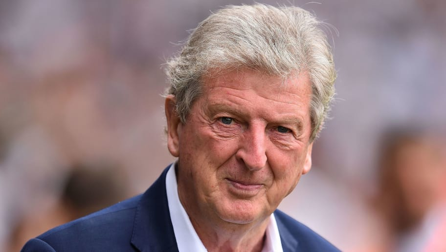Crystal Palace's English manager Roy Hodgson reacts ahead of the English Premier League football match between Fulham and Crystal Palace at Craven Cottage in London on August 11, 2018. (Photo by Glyn KIRK / AFP) / RESTRICTED TO EDITORIAL USE. No use with unauthorized audio, video, data, fixture lists, club/league logos or 'live' services. Online in-match use limited to 75 images, no video emulation. No use in betting, games or single club/league/player publications. /         (Photo credit should read GLYN KIRK/AFP/Getty Images)